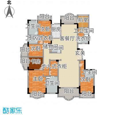 中润卡缇亚宫388.00㎡高层A户型5室5厅5卫1厨