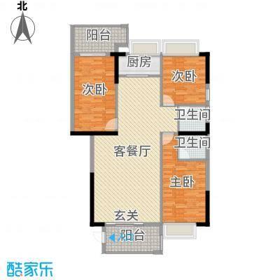 金丰花园127.75㎡4幢2-28层05-06户型3室3厅2卫1厨