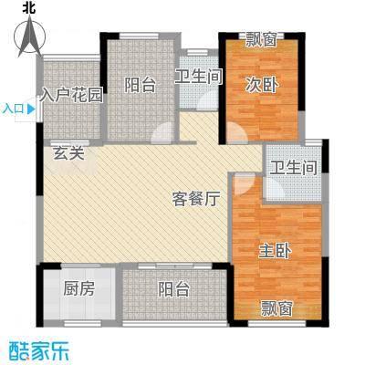 锦绣・东城105.78㎡D37栋户型3室3厅2卫1厨