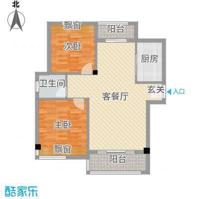 袁河壹品92.00㎡F户型2室2厅1卫1厨