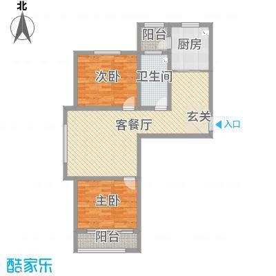 泰丰时代城二期91.65㎡K户型2室2厅1卫