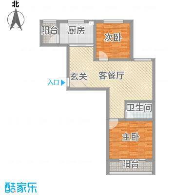 泰丰时代城二期92.55㎡M户型3室3厅1卫