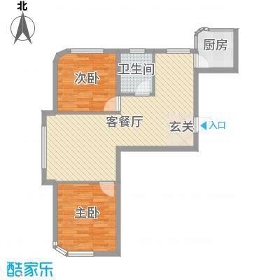 文景清华园81.58㎡2号楼A2户型2室2厅1卫