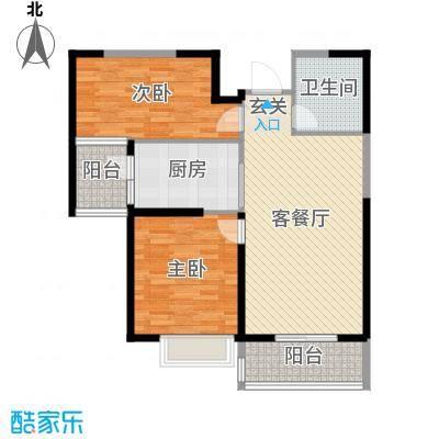 秦皇岛恒大城95.31㎡1#-11#标准层户型2室2厅1卫1厨