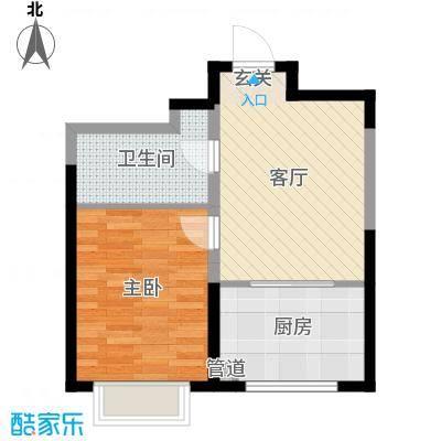 幸福阳光61.60㎡B户型1室1厅1卫1厨