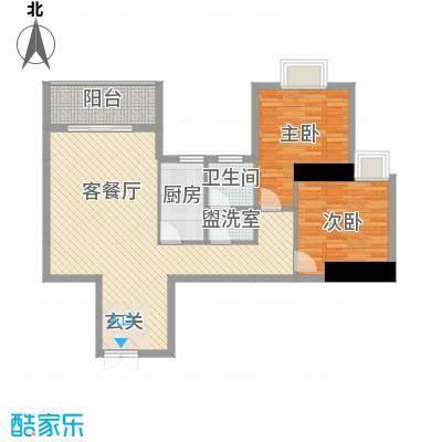 青溪雅郡94.24㎡5\6栋-B户型2室2厅1卫1厨