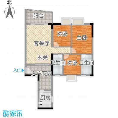 青春112.91㎡2号楼标准层02户型3室3厅2卫1厨