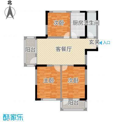 京杭明珠110.90㎡D户型3室3厅1卫1厨