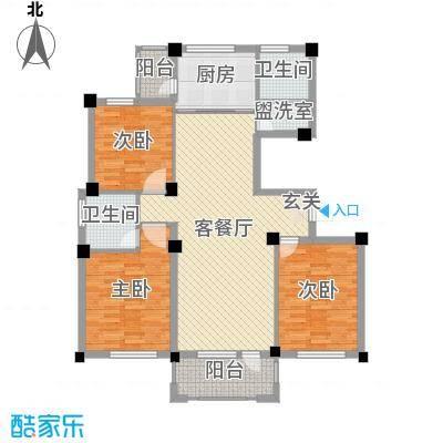 京杭明珠122.00㎡L户型3室3厅2卫1厨