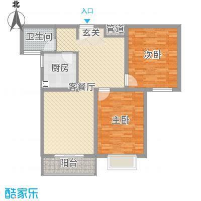 盛弘朗庭96.53㎡11-2-户型2室2厅1卫1厨