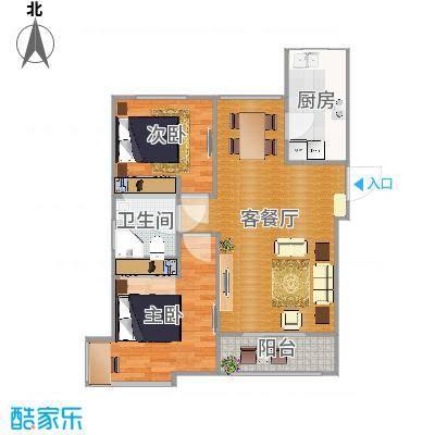 金隅悦城三室两厅一卫85平米LR