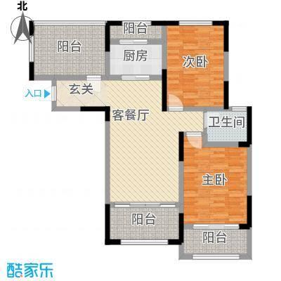 高速蔚蓝海岸102.00㎡28、32、33号楼花园洋房D3户型2室2厅1卫1厨
