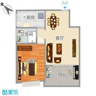 华林东盛花园二期31号楼302室室内平面效果图