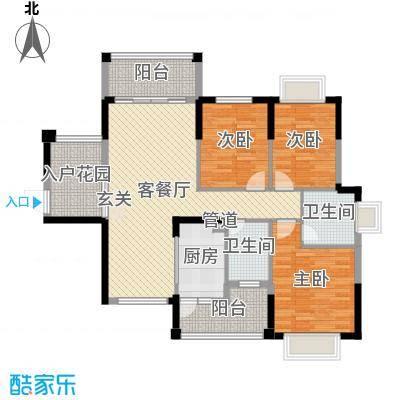 东江学府116.00㎡三期19-22栋3-3户型3室3厅2卫1厨