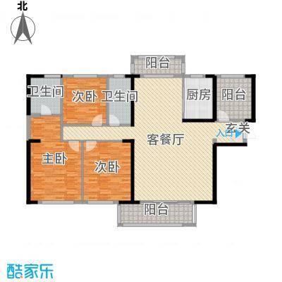 晟通牡丹舸188.59㎡8、9栋C户型4室4厅2卫1厨