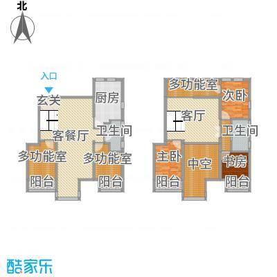 跃界195.92㎡6居户型6室6厅2卫1厨