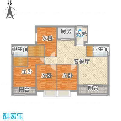 冠城・美域_D2四室两厅两阳台159.27㎡