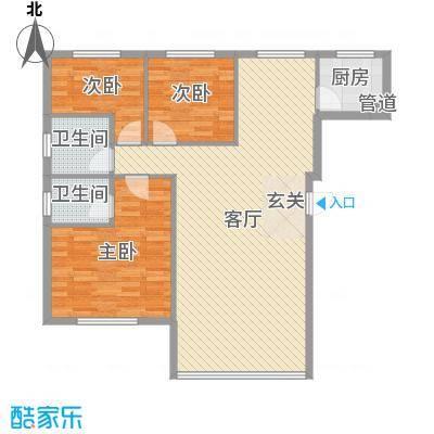 东街雅苑127.51㎡A4-202经典户型3室3厅2卫1厨