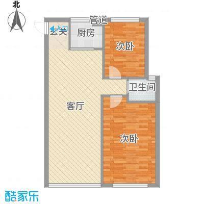 东街雅苑87.46㎡B2-207户型2室2厅1卫1厨