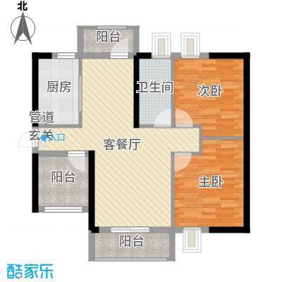 名流印象花园89.00㎡三期G3户型3室3厅1卫1厨