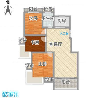嘉业海棠湾91.54㎡一期28#高层F户型3室2厅1卫1厨-副本