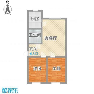 聚缘福地80.76㎡7#H户型2室2厅1卫1厨
