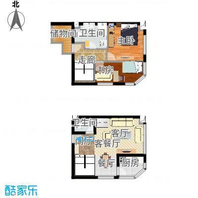 欧尚广场唯品公寓-55平