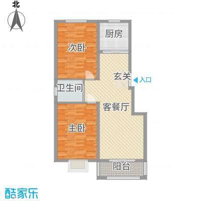 苏源聚福园102.00㎡6号楼G户型2室2厅1卫1厨