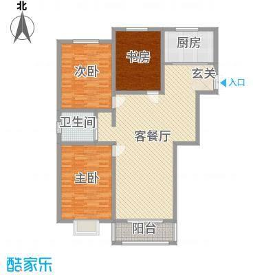 苏源聚福园139.90㎡1号楼N户型3室3厅1卫1厨