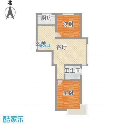 世纪豪庭90.00㎡2户型2室2厅1卫1厨