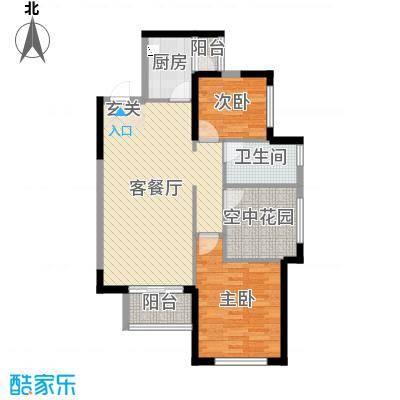 振业城89.60㎡二期5-7栋D3\'户型3室3厅1卫1厨