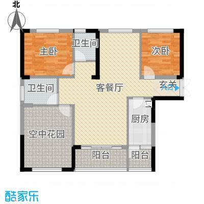 振业城107.00㎡二期5栋D1户型3室3厅2卫1厨
