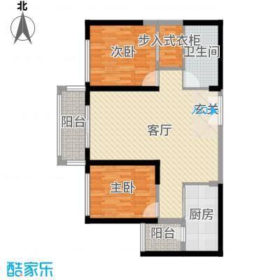 唐城壹零壹99.18㎡103#104#楼标准层d1户型2室2厅1卫1厨