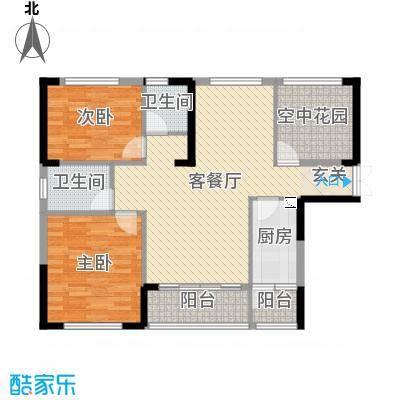 振业城110.00㎡二期6-7栋D1户型3室3厅2卫1厨