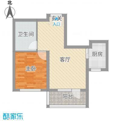 神宇国际58.00㎡B户型1室1厅1卫1厨