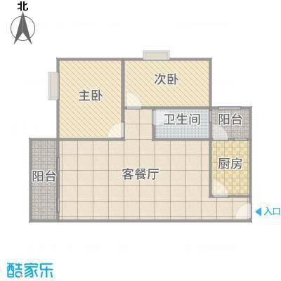 丽园盛景10栋-0403(80m²)2房2厅1卫