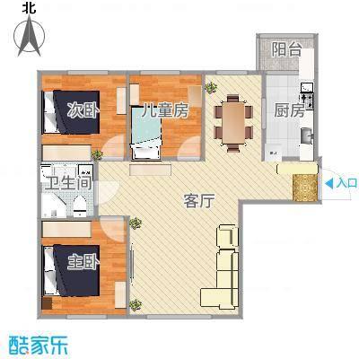 康城8#楼1单元3室