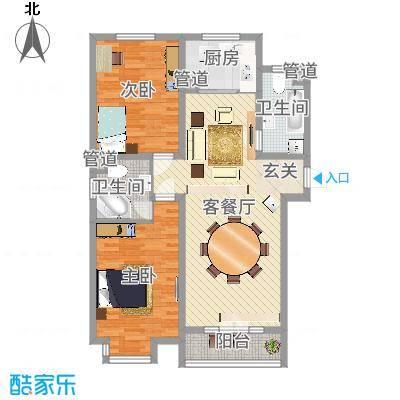 山木清华24户型2室2厅1卫1厨-副本