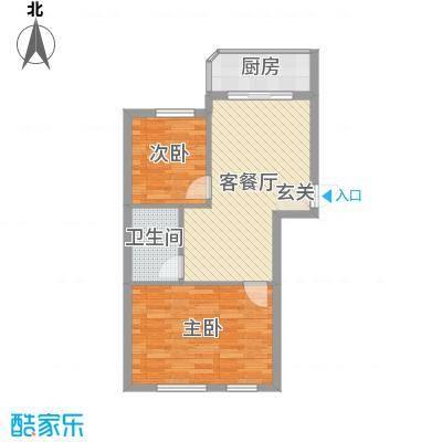 文景清华园71.56㎡2号楼A1户型2室2厅1卫