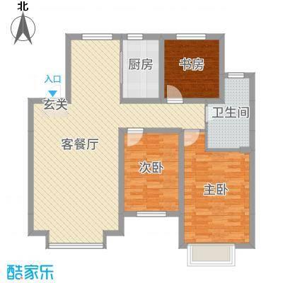 湖滨・四季城三期120.82㎡户型3室3厅1卫