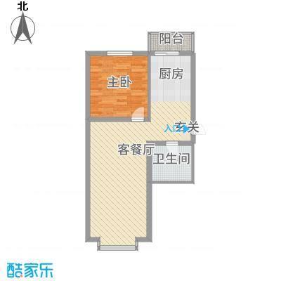 绿海华庭79.00㎡多层C户型1室1厅1卫1厨