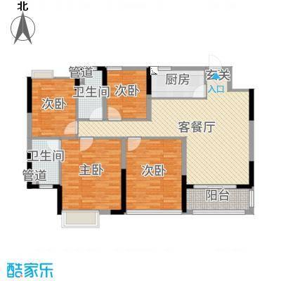 怡丰翠云轩二期110.00㎡15-18栋01-02户型4室4厅2卫1厨
