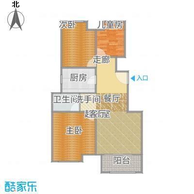 上坤乐城户型3室1卫1厨-副本