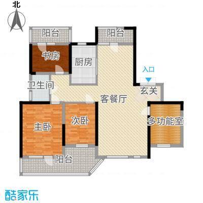 名流公馆135.38㎡11#B6户型4室4厅2卫1厨
