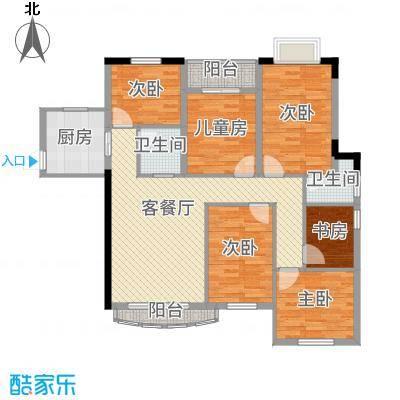 未来海岸蓝月湾123.20㎡C户型3室2厅2卫1厨-副本