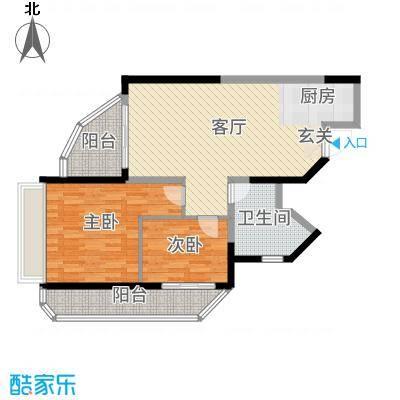 碧桂园十里银滩93.00㎡梵高的海9#-11#A2户型2室2厅1卫1厨