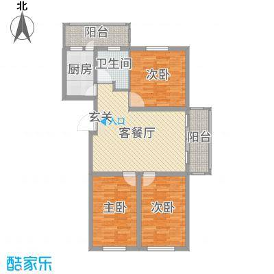 盛世香湾102.48㎡G8/9/14号楼C1户型3室3厅1卫1厨
