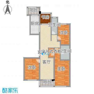 翠屏诚园143.00㎡一期3幢K户型3室3厅2卫1厨