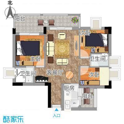 凤岗东江花园75.00㎡凤岗东江花园3室户型3室-副本