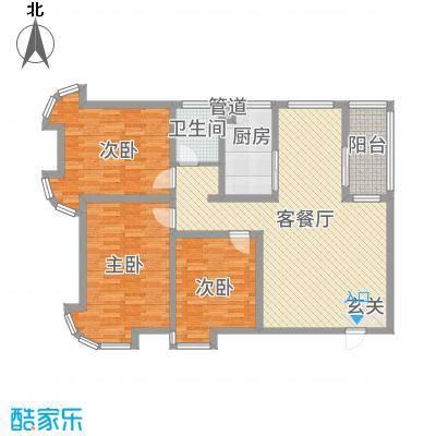 澜湾盛景137.42㎡A区3#A户型-副本